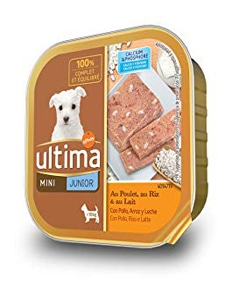 Tarrina de alimento húmedo para perros marca Ultima