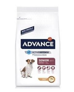 Paquete alimenticio para perros mayores