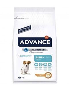 Paquete de alimento para perro con imagen de perro de raza pequeña
