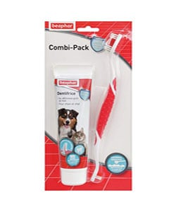 pack pasta y cepillo de dientes para perro
