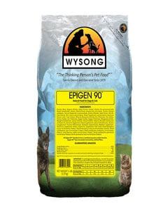 Paquete de alimentos para perros de la marca Wyson