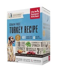 Caja de pienso marca The Honest Kitchen con imagen de perro de raza grande