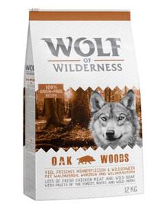 Wolf of Wilderness Oak Woods con jabalí