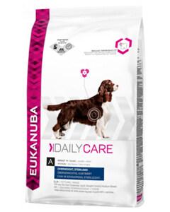 Saco de pienso Eukanuba especial para perros con sobre peso y perros esterilizados